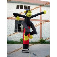 Custom Inflatable Air Dancer / Sky Dancer Inflatable Monkey Shaped Of Promotion Manufactures