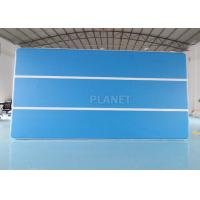 Blue 6x3x0.2m Inflatable Air Track For Swimming Pool Floating Mat Manufactures