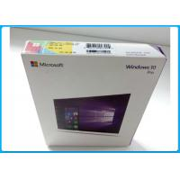 Multi - Language Product OEM Key Microsoft Windows 10 Pro Pack With DVD OEM Manufactures
