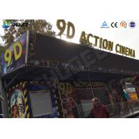 12 / 16 / 24 People 9D Movie Theater With Motion Chair For Amusement Park Manufactures