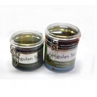 Bulk round tea tins with clear window Manufactures