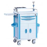 ABS Hospital Medical Treatment Cart On Wheels With IV Stand And Oxygen Holder Manufactures