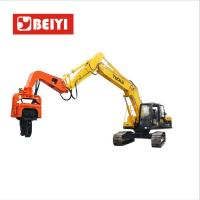 Buy cheap BeiYI Excavator Mounted Mini Integrated Vibratory Pile Hammer Construction from wholesalers