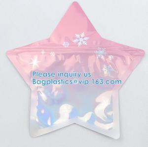 Irregular Packing Eco-Friendly Food Grade Aluminum Foil PE Material Juicy Bag Custom Shape Zipper Pouch Manufactures
