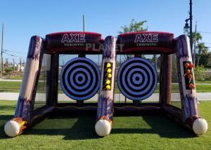 Flying Single / Double Size Interactive Game Inflatable Axe Throwing Carnival Game For Sale Manufactures