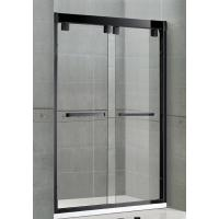 Buy cheap Matte Black Double Sliding Glass Shower Screen Aluminum Alloy Inline Visible from wholesalers