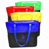 Promotional Tote Bags, Made of Recycled PET Woven, Available in Various Styles and Designs Manufactures