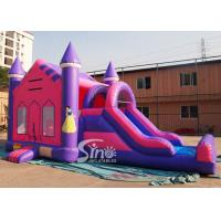 4in1 pink kids party inflatable princess bounce house with slide from Guangzhou Inflatable factory Manufactures
