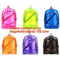 Backpack Bag Casual Backpack For Women, outdoor clear pvc plastic backpack, school travel backpack with padded shoulder Manufactures