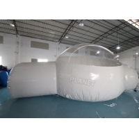 Half Clear 4m Dome Inflatable Bubble Lodge With Silent Blower Manufactures