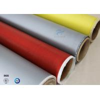 Buy cheap 260℃ High Temperature E-glass Satin/Twill Silicone Coated Fiberglass Fabric from wholesalers