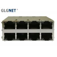 Buy cheap 2x4 Rj45 Multi Port Jack 1G Magnetic RJ45 Modular Jack with LED from wholesalers