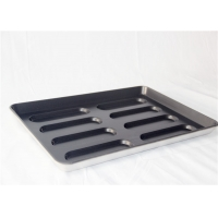 Black Non Stick 8 Links Hot Dog Bun Baking Pan Manufactures