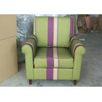 Arm Striped Fabric Upholstered Modern Accent ChairFor Living Room Furniture Manufactures