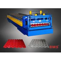 Buy cheap Aluminum Roof Panel Roll Forming Machine Metal Roof Tile Making Low Noise from wholesalers