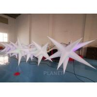 Oxford Cloth LED Inflatable Star With Color Light For Event Decoration Manufactures