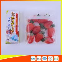 Clear Plastic Freezer Zip Lock Bags With Writing Panel For Vegetable / Meat Storage Manufactures