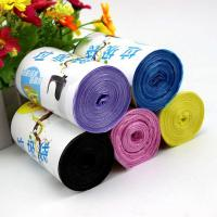 Disposable Custom Printed Bin Bags , Heavy Duty Eco Friendly Trash Bags Manufactures