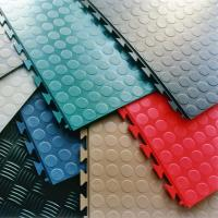 Buy cheap PVC Interlocking rubber floor tiles for warehouse workshop mat floor leather from wholesalers