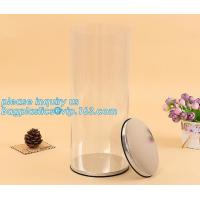 clear PVC PET can for food canning,Customized round clear paint can with tin lid,paint can with tin top & bottom and han Manufactures