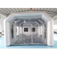 7x4x3m Carbon Filter Paint Inflatable Spray Booth / Portable Car Spray Booth Tent Manufactures