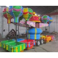 32 Seats Trailer Mounted Rides With Colorful Balloons And Beautiful Cabins