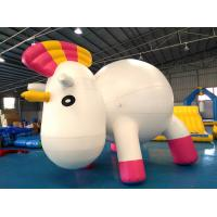 Buy cheap Bouncia Anti-UV Material Standing Inflatable Unicorn Cartoon For Swimming Pool from wholesalers