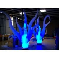 Color Changing Inflatable Tree Durable 210 D Oxford Cloth For Event Decoration Manufactures