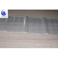 Clear Color Transparent Corrugated Roofing Sheets  Fiberglass Material High Strength Sun Sheet Manufactures