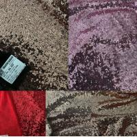 Seqiun embroidery full width 3mm bright sequin dress fashion fabric Manufactures