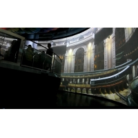The 6-DOF Platform Simulates A Hot Air Balloon Flying Over The City Dome Screen Cinema Manufactures