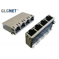 Buy cheap 1000 Base - T Magnetic RJ45 Jack 1 X 4 Ports Tab Up Supports 100W UPOE+ from wholesalers