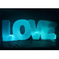 Wedding Inflatable Lighting Decoration Love Led Letter Balloon For Stage Manufactures