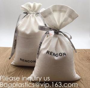 Double Canvas Drawstring Bag Cotton Pouch Gift Sachet Bags Muslin Bag Reusable Tea Bag,Organic Cotton Reusable Produce B Manufactures