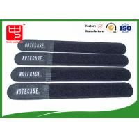 Black dirty resistance hook and loop ties , hook and loop strap For Wires Clearing Up round ending Manufactures