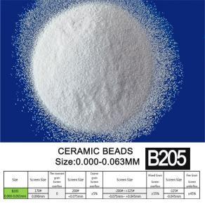 Round B205 Ceramic Bead Blasting For Automatic Sandblasting Machine Manufactures