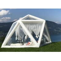 Portable Large Clear Bubble House Inflatable Triangle Transparent PVC Inflatable Camping Tent Manufactures