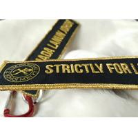 2.5cm 3D Gold Embroidery Logo Keychains Manufactures
