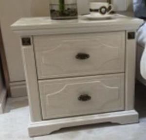 European Bedroom Furniture Bedroom Side Tables / White Bedside Cabinets Manufactures