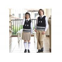 Buy cheap Soft Anti - Winkle High School Uniform Sweaters Design For Boys And Girls from wholesalers