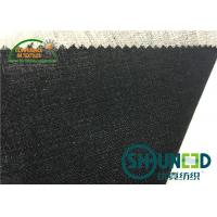 Black Hair Interlining Fabric Interfacing Heavy Weight For Men's Suit Manufactures