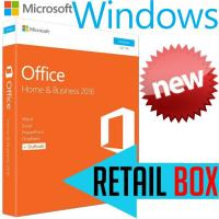 Microsoft Office Home Business 2016 Retail Box , Support 1 User License Key Office 2016 Manufactures