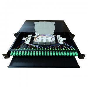 24 Port SC APC ODF Optical Distribution Frame Preloaded Fiber Optic Patch Panel Manufactures