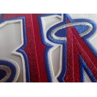 Textile Sew On Woven Clothing Custom Embroidered Patches Manufactures