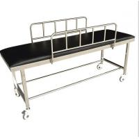 Patient Transport Stretchers / Ambulance Trolley Bed With Side Rails And PU Foam Manufactures
