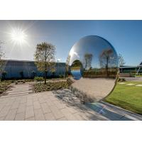Morden Highly Polished Stainless Steel Sculpture Torus For Lawn Featuring Manufactures