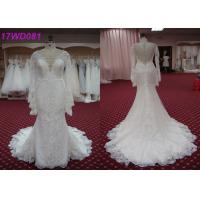 Modest Soft Lace Mermaid Style Wedding Dress With Long Sleeves Appliqued Decor Manufactures