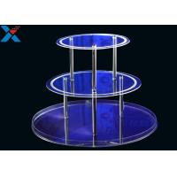 Round 3 Layers Acrylic Display Stands For Wedding Environmental And Recyclable Manufactures