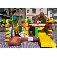 Dinosaur Park Inflatable Bounce Slide Combo Jumping Castle With Slide For Inflatable Games Manufactures