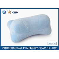 China Blue 3D Traveling Relax Memory Foam Car Neck Pillow With Neck Support , Customized on sale